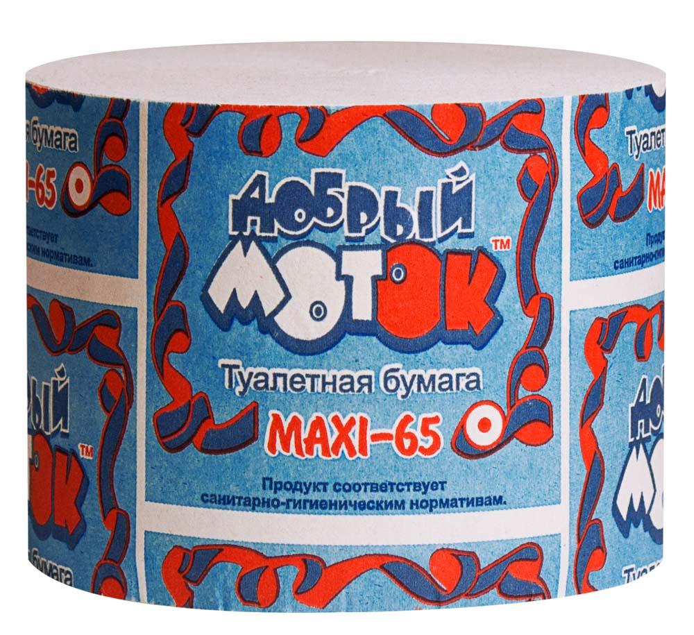 туалетная бумага без втулки 50 Добрый моток MAXI-65