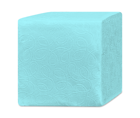 бумажные салфетки из вторсырья целлюлозы LASLA HoReCa Econom голубые